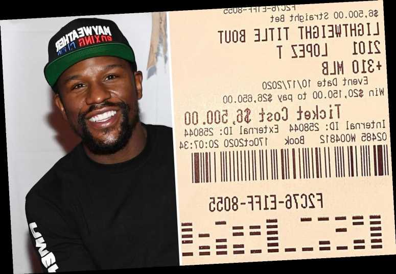 Mayweather wins $20k on Lopez beating Lomachenko and brands takings 'a light win' as Money rakes in more cash