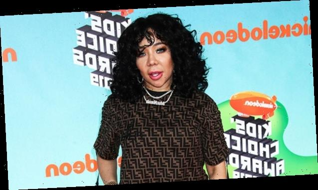 Tiny Harris, 45, Rocks Plunging Sequined Jumpsuit In '70s-Inspired Look For Party With T.I. — Pics
