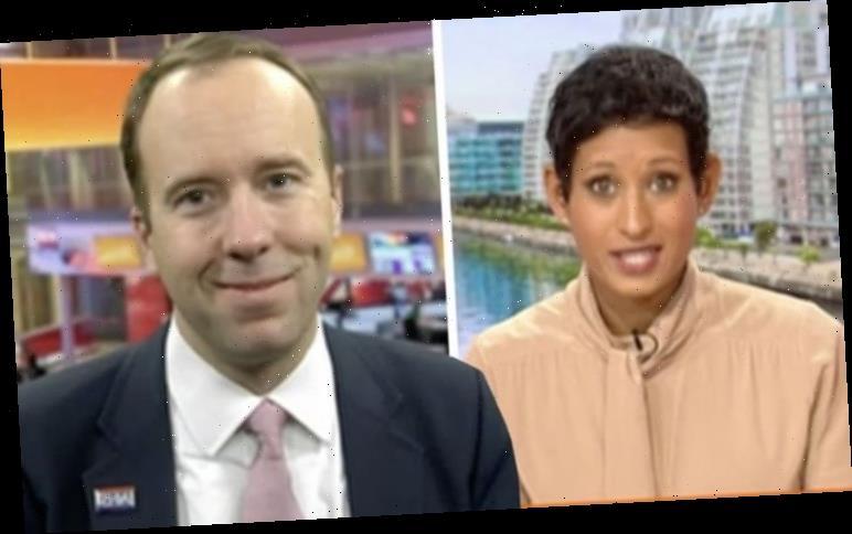 Naga Munchetty explodes at 'smirking' Matt Hancock over NHS pay freeze 'How do you dare?'