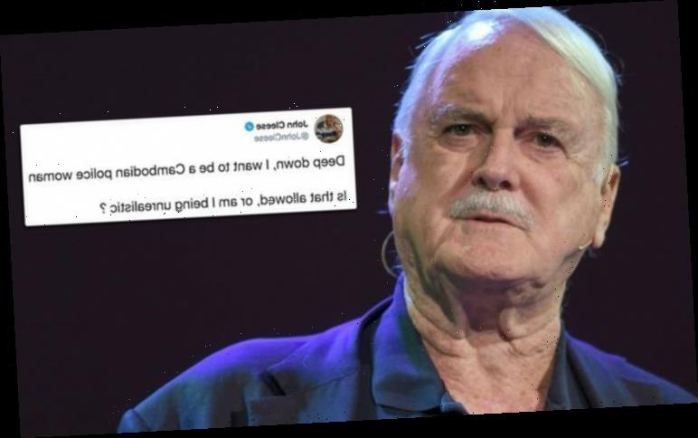 John Cleese sparks backlash after saying he wants to be a 'Cambodian police woman'