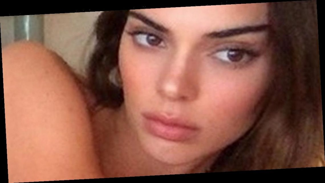 Kendall Jenner flaunts peachy bum as she transforms into Pamela Anderson