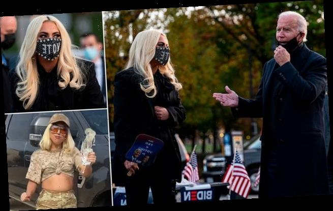 Biden campaigns with Lady Gaga in Pennsylvania