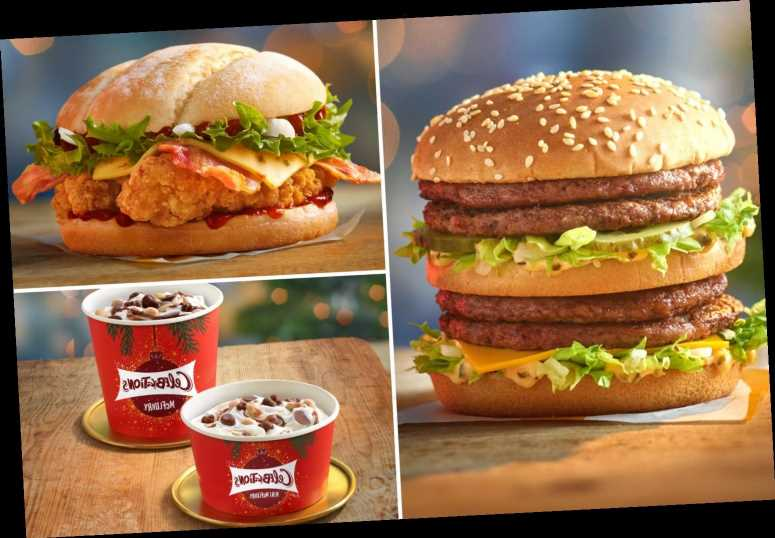 McDonald's launches Christmas menu today including the DOUBLE Big Mac