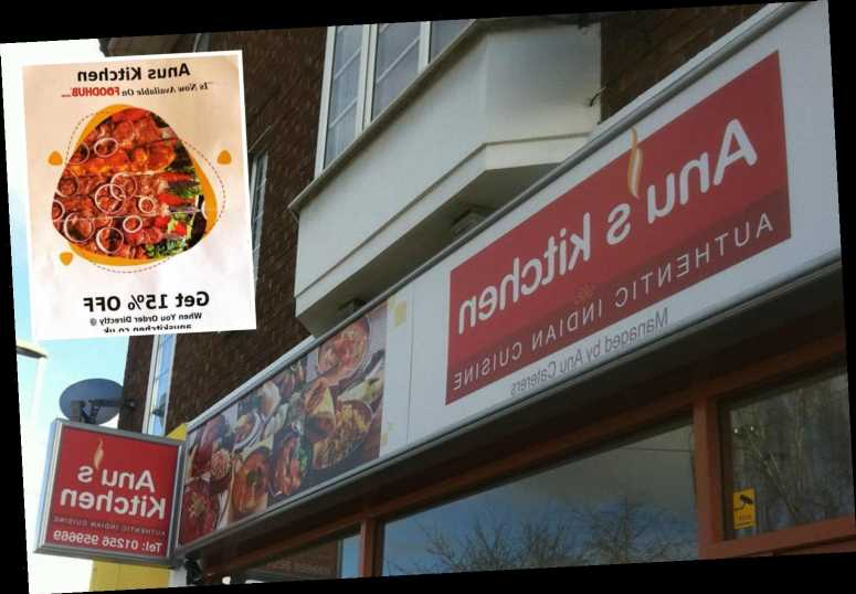 Takeaway restaurant ridiculed after a punctuation oversight left it named 'Anus Kitchen' on flyers