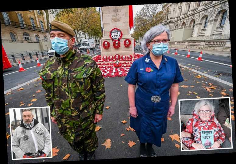 Extinction Rebellion protester who helped soldier hijack Cenotaph on Remembrance Day is Buddhist NHS nurse mum-of-two