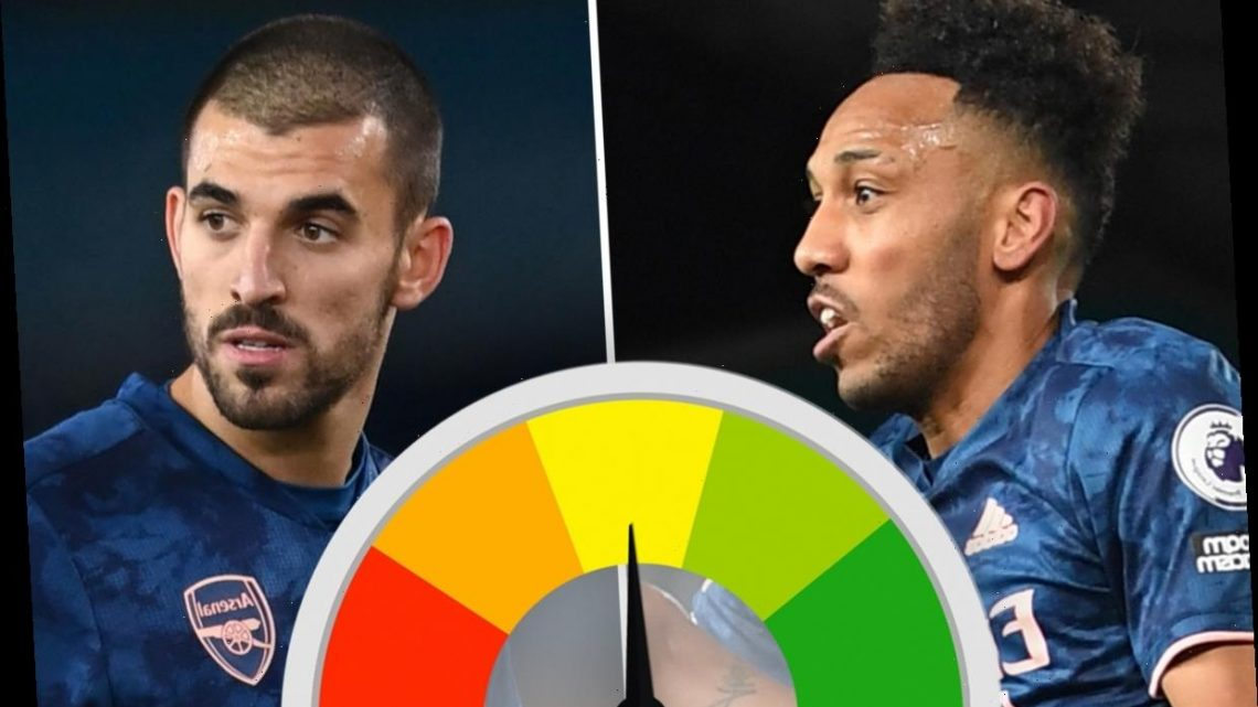 Arsenal ratings: Aubameyang struggles in central role as Pepe sees red for headbutt but Ceballos impresses against Leeds