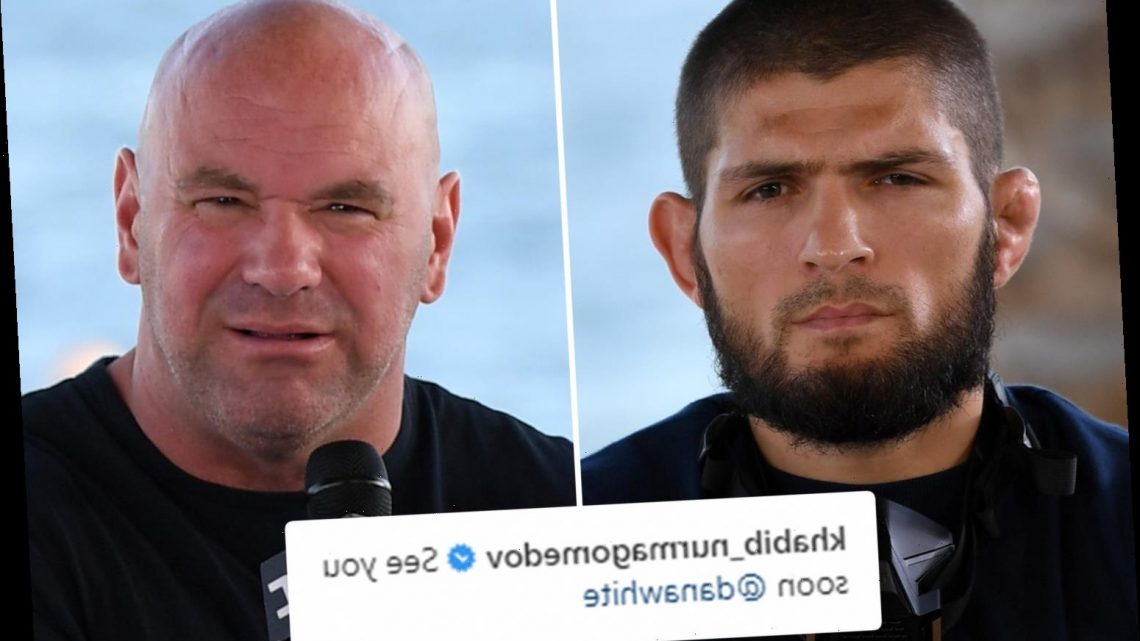 Khabib Nurmagomedov drops HUGE hint over UFC return with cryptic 'see you soon Dana White' Instagram post