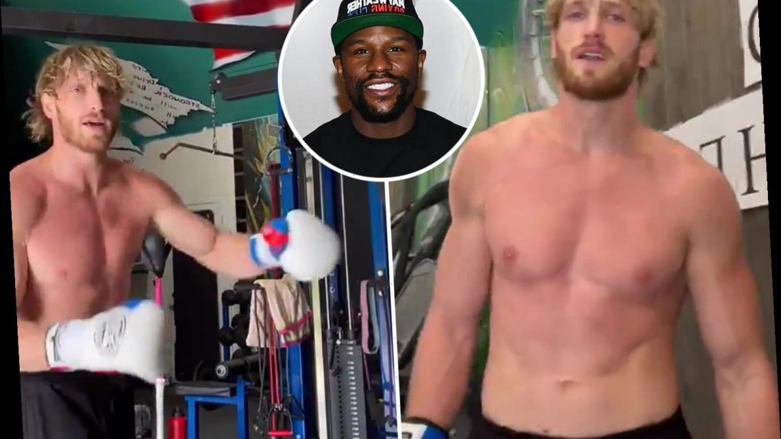 Watch Logan Paul claim Floyd Mayweather hasn't signed fight contract yet as he can't spell own name in incredible rant