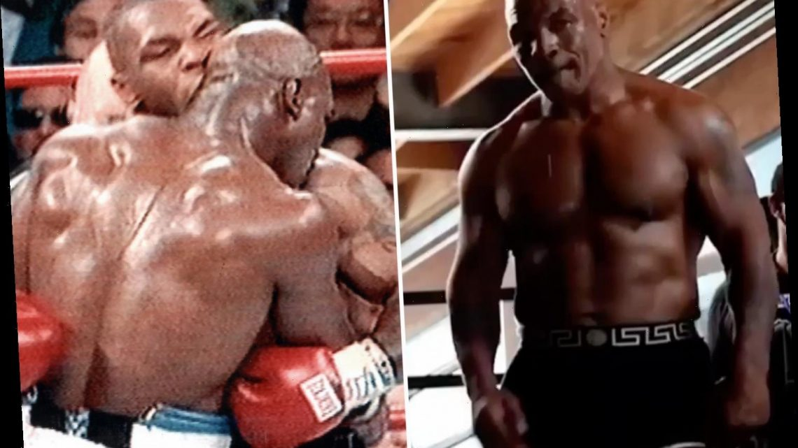 Mike Tyson admits he'd bite a chunk Evander Holyfield's ear off AGAIN as he prepares for Roy Jones Jr bout