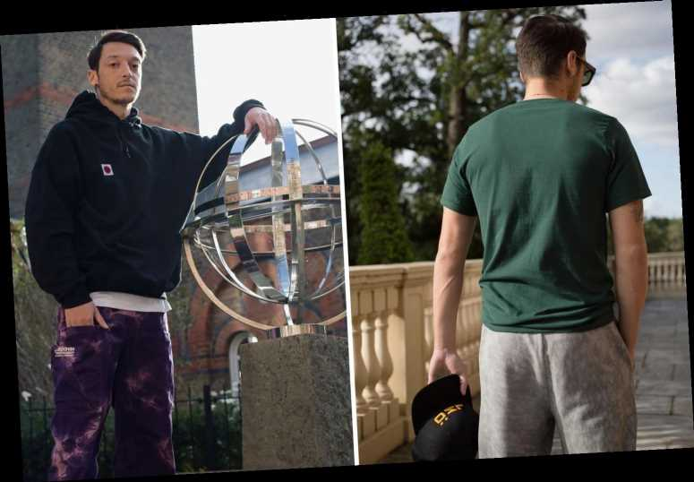 Arsenal outcast Mesut Ozil fills up spare time by launching streetwear clothing brand and models new gear