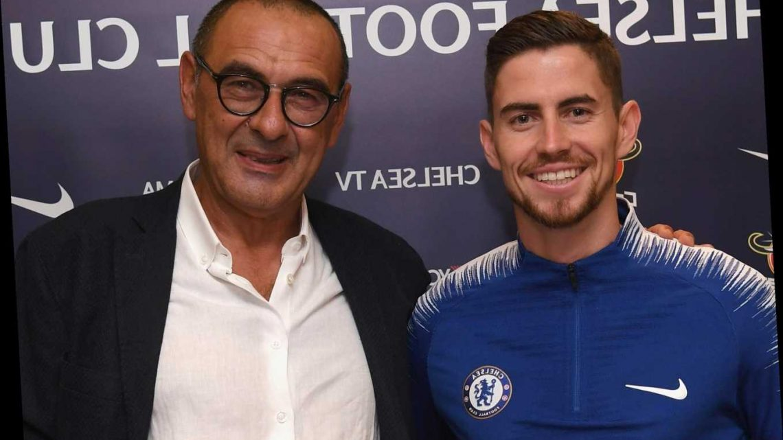 Jorginho's agent reveals Chelsea star could follow Maurizio Sarri to new club with transfer as he keeps tabs on old boss