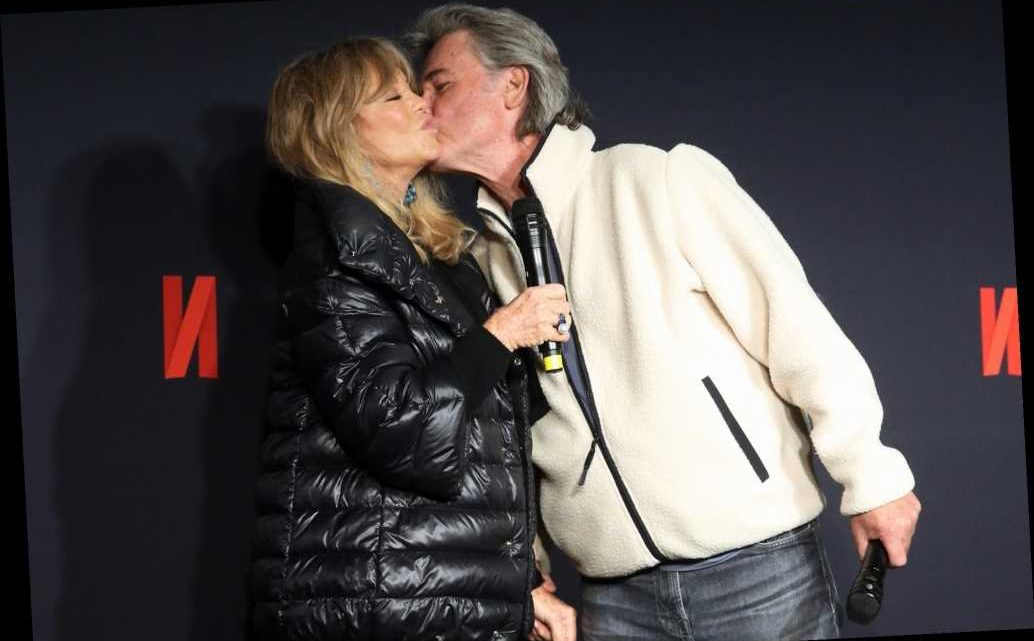 Kurt Russell Kisses Goldie Hawn at Christmas Chronicles: Part 2 Premiere Ahead of Her 75th Birthday