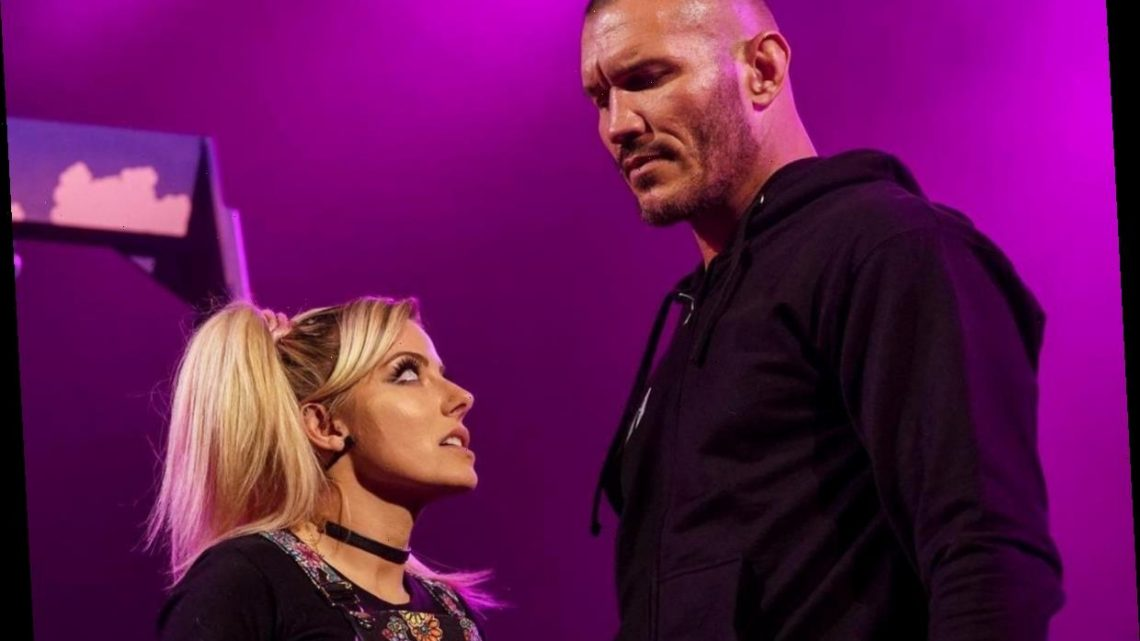 Watch WWE's Alexa Bliss appear to be SET ON FIRE by Randy Orton on Raw after his attack on The Fiend's Firefly Fun House