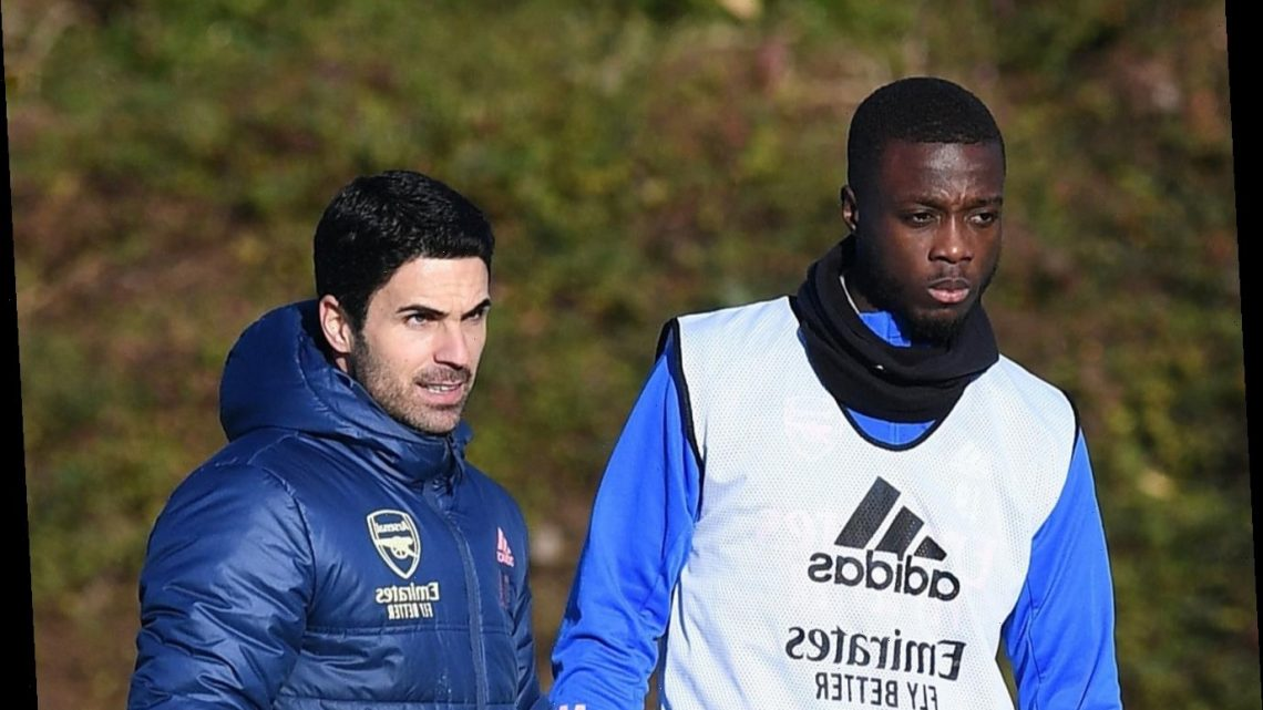 Arsenal flop Nicolas Pepe 'hurting and suffering' after horror run of form as Mikel Arteta defends players