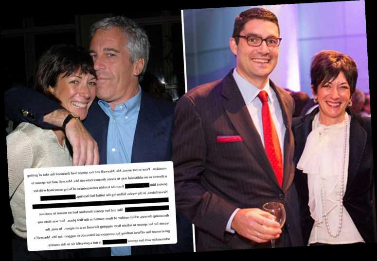 Epstein 'madam' Ghislaine Maxwell wanted to divorce secret husband to 'PROTECT him,' her lawyers claim