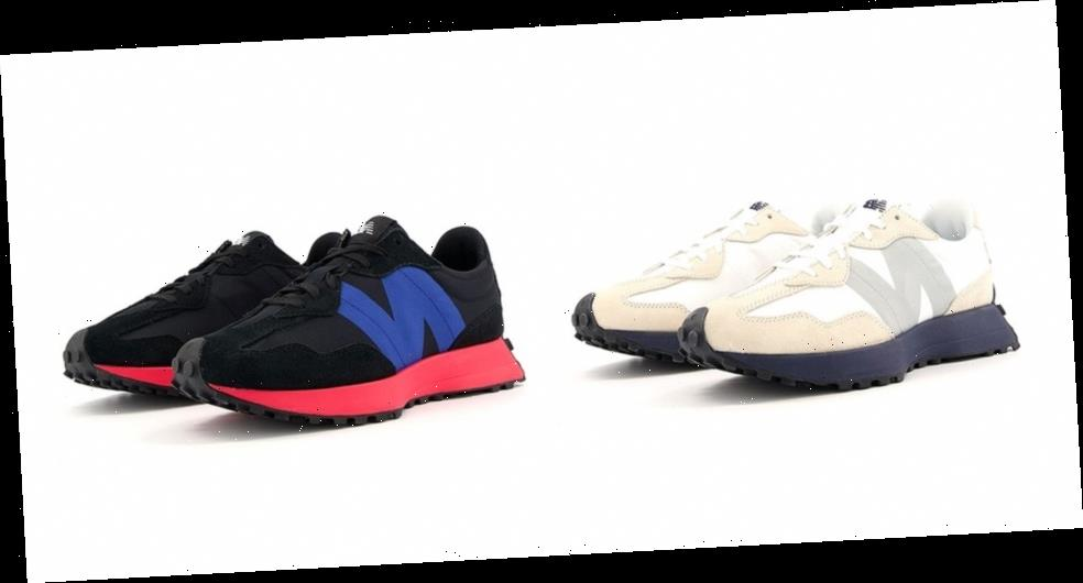 "New Balance 327 Just Dropped in ""Munsell White/Team Navy"" and ""Black/Energy Red"""