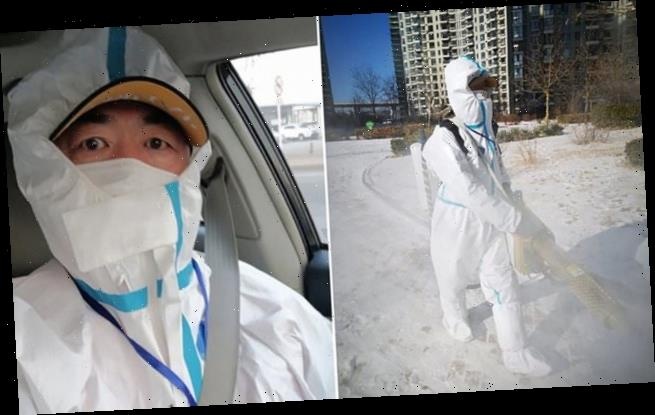 Chinese virus volunteer, 54, drops dead while disinfecting streets