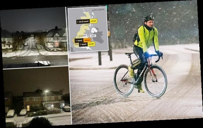 Snow hits London as Met office issues AMBER weather warning