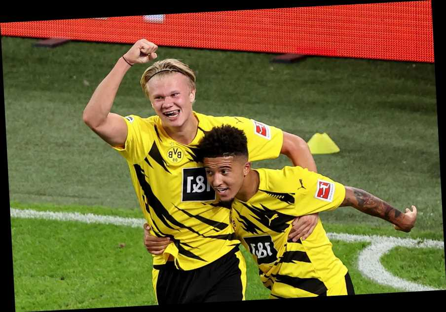 Man City hope to use Jadon Sancho sell-on clause to beat Man Utd to Erling Haaland transfer