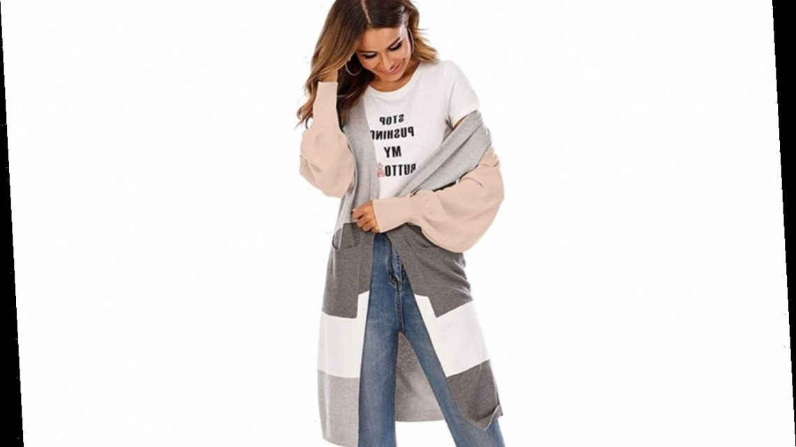 Snuggle Up in This Ultra-Long Cardigan on Chilly Winter Days