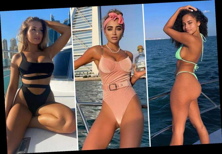 Celebs pose on luxury yachts as they escape the pandemic out at sea