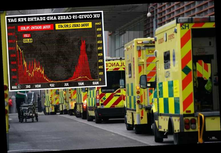 UK Covid deaths jump by 1,325 on deadliest day EVER and cases rise by record 63,053