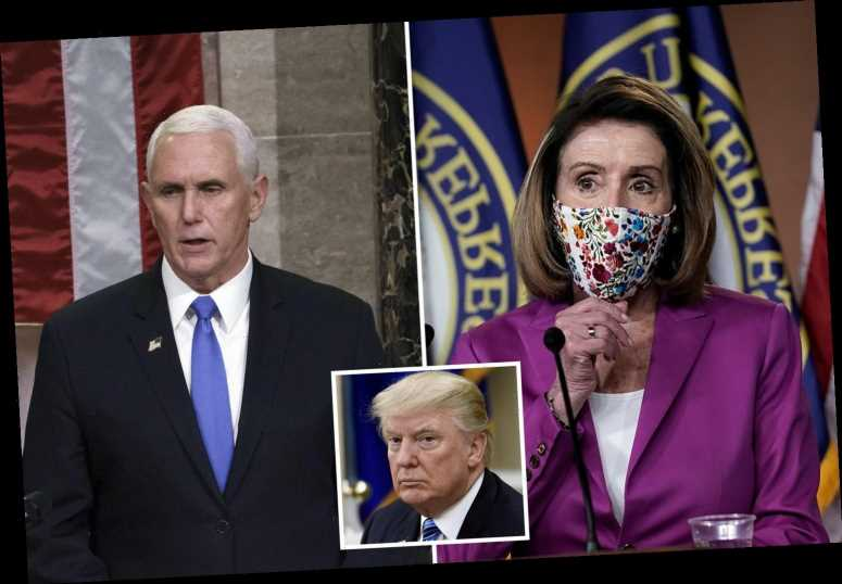 Nancy Pelosi could force Mike Pence to decide TODAY if he will remove Donald Trump before he is 'impeached by Democrats'