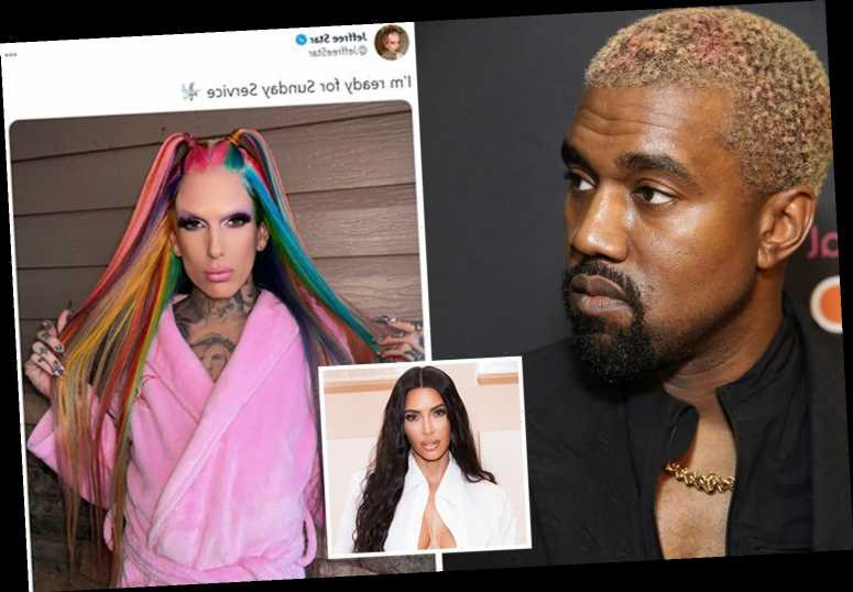 Kanye West 'NOT dating Jeffree Star after split from Kim Kardashian' but YouTuber says he's 'ready for Sunday service'