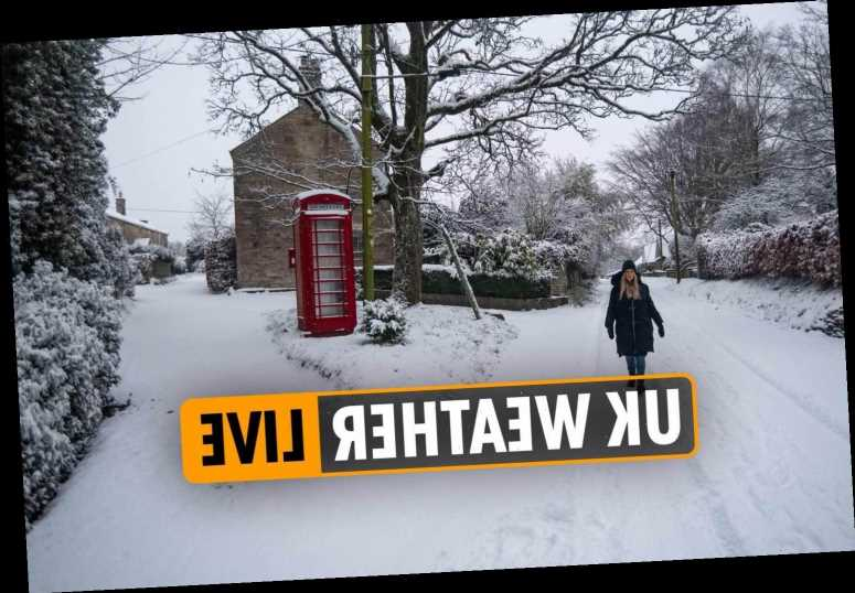 UK snow forecast – Severe weather warnings EVERYWHERE in UK after heavy snowfall, icy roads and subzero temperatures