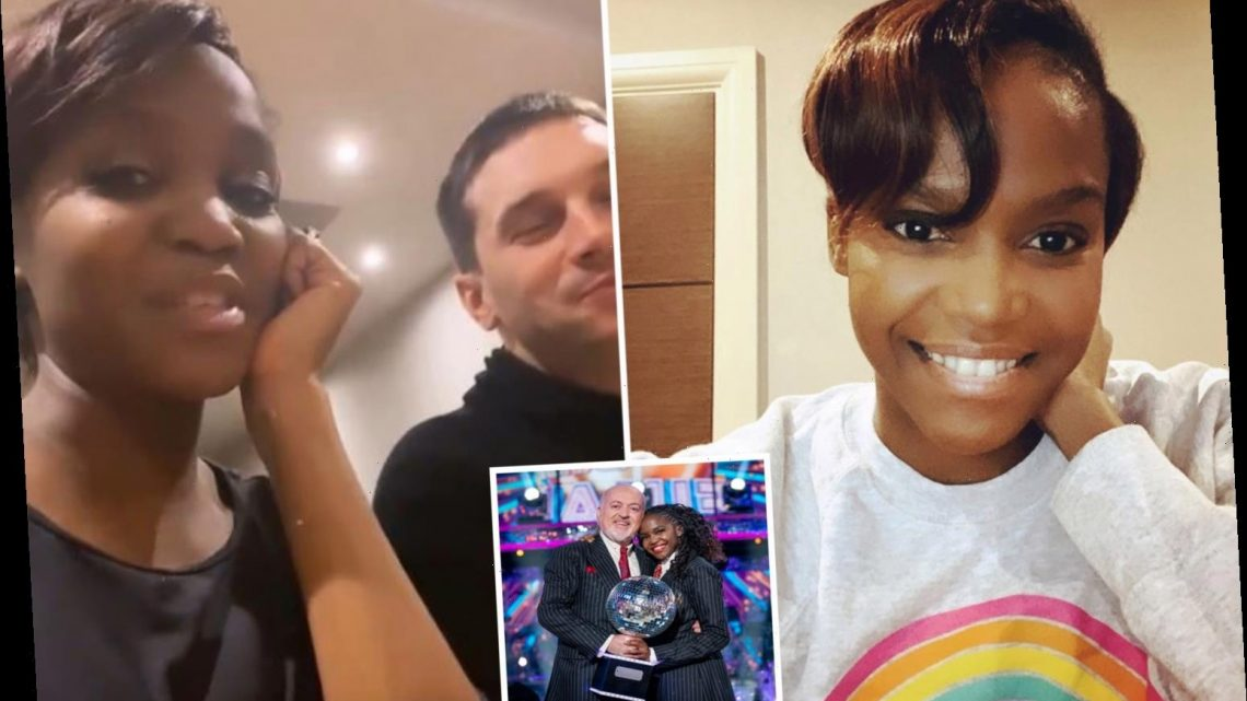 Strictly's Oti Mabuse reveals amazing hair transformation in lockdown as she teases online dance class