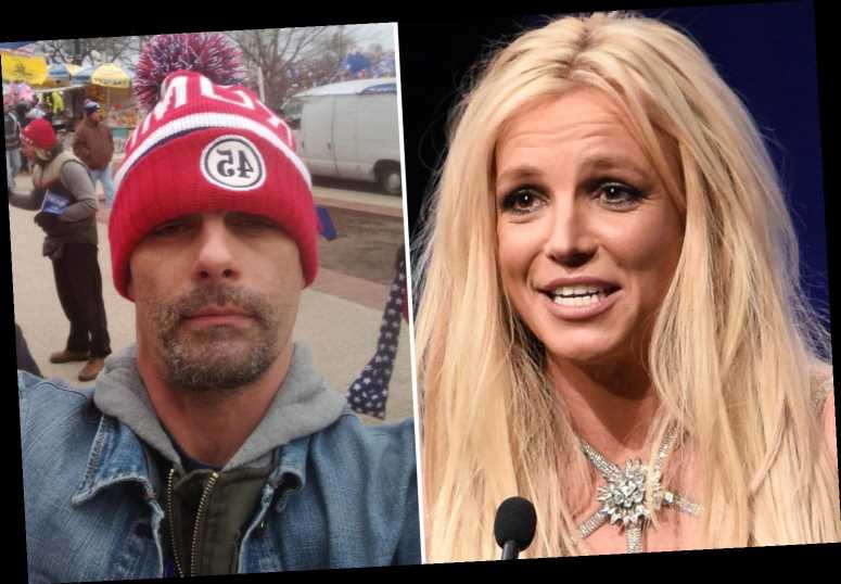 Britney Spears' ex-husband Jason Alexander dons a Trump hat at the Capitol riots as followers slam him as 'trash'