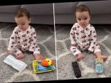 Thrifty TikTok mom shows why buying baby toys can be a waste and what her tot plays with instead
