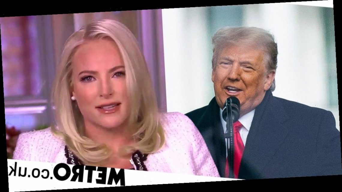 The View's Meghan McCain condemns Donald Trump after Capitol riots