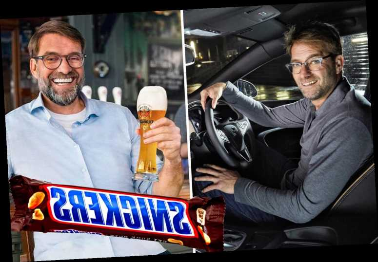 Klopp's £6.7m-a-year sponsorship deals broken down as he earns cash from Snickers and beer on top of £16m Liverpool pay