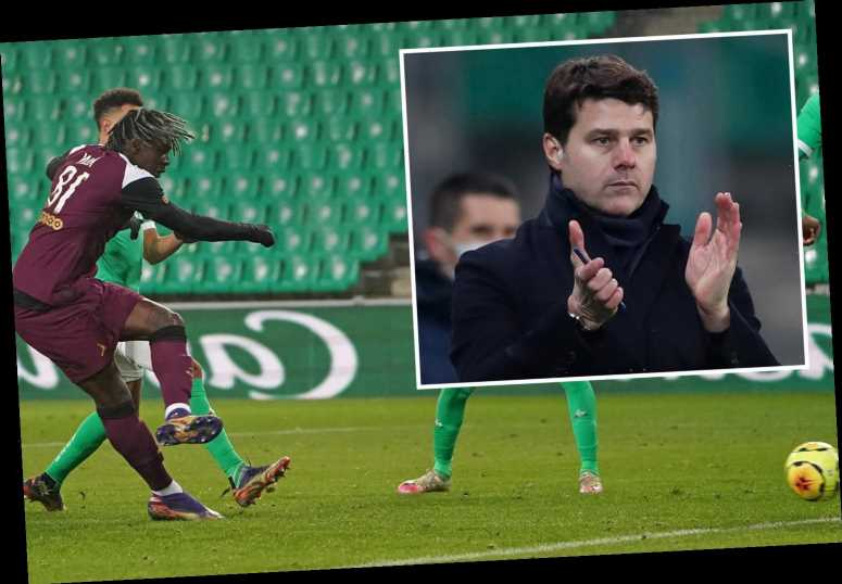 Saint-Etienne 1 PSG 1: Mauricio Pochettino's first game ends in stalemate after Moise Kean strike