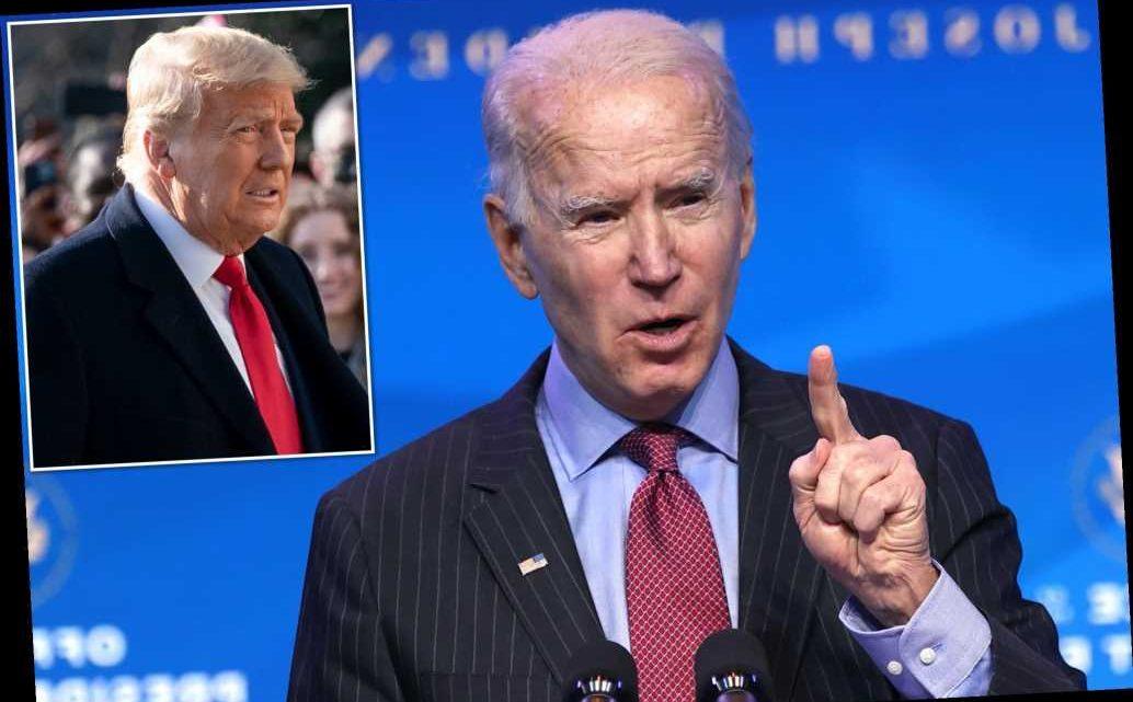 Joe Biden speaks out after Trump impeachment