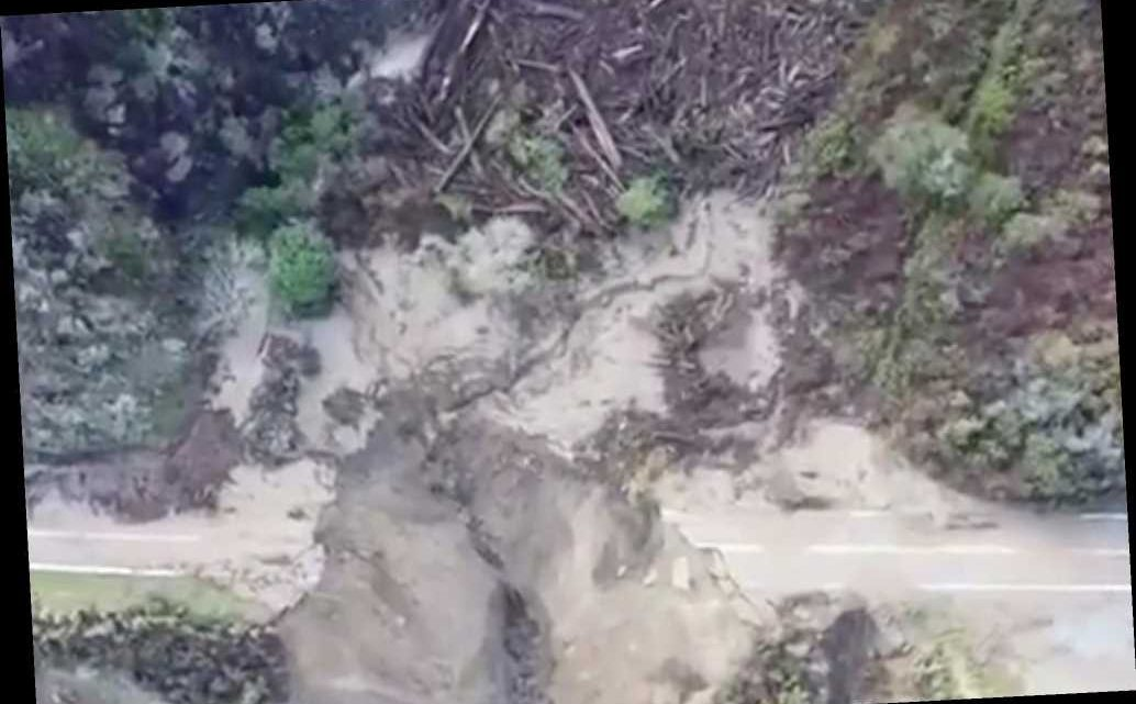 Jaw-dropping drone footage shows aftermath of California highway collapse