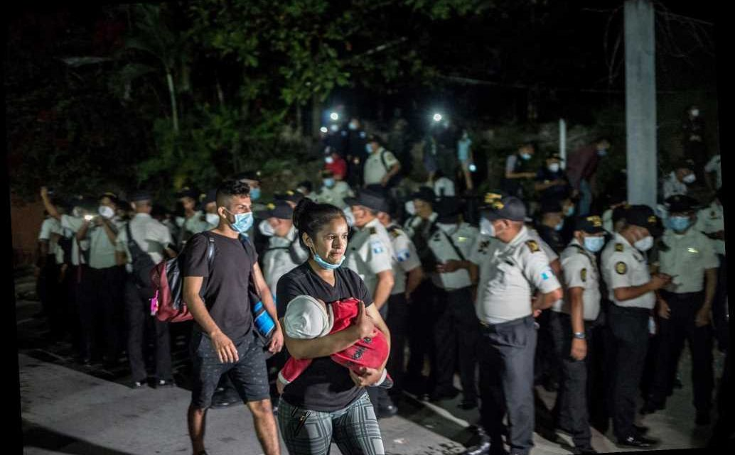 Clashes reported as migrant caravan attempts to cross into Guatemala