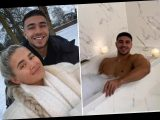 Molly-Mae Hague shares naked snap of smiling Tommy Fury as he sneaks into her bubble bath
