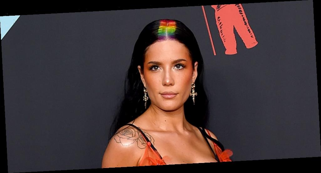 Halsey Shares Off Bold 'About Face' With Blue Wig Before Celebrating 'Manic's One Year Anniversary