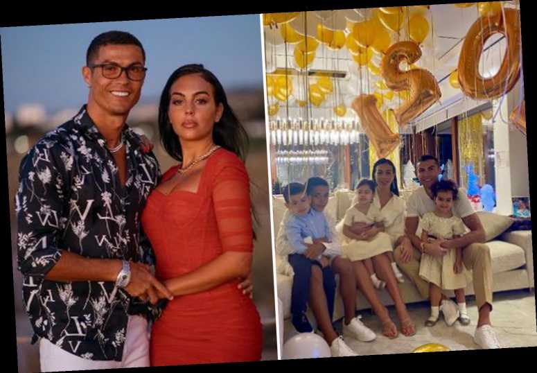 Cristiano Ronaldo celebrates New Year with Georgina Rodriguez and children as family welcome 2021 with golden balloons