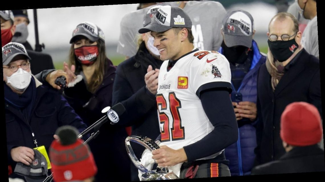 Tom Brady has heartfelt moment with son following NFC Championship victory