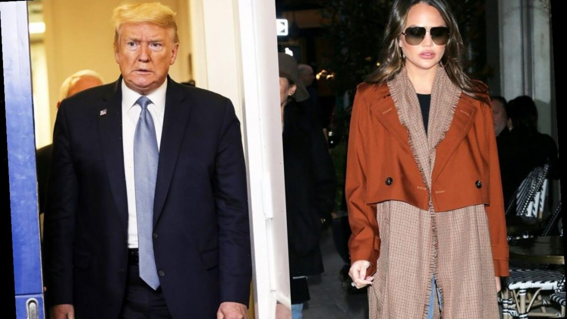 Chrissy Teigen and More Stars Rejoice After Donald Trump Is Permanently Banned on Twitter