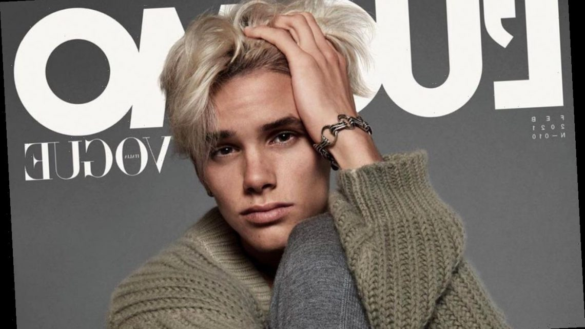 Romeo Beckham 'Excited' for His Modeling Debut on L'Uomo Vogue Cover