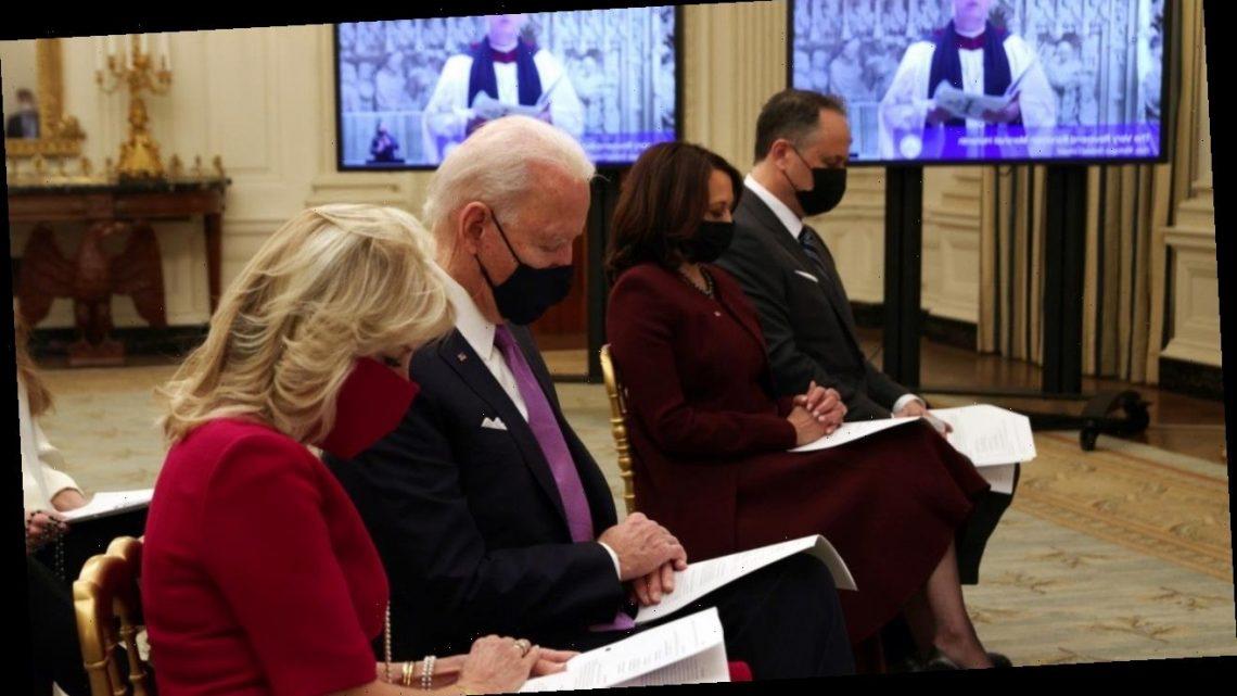 Joe Biden, Kamala Harris & Spouses Attend Inaugural Prayer Service
