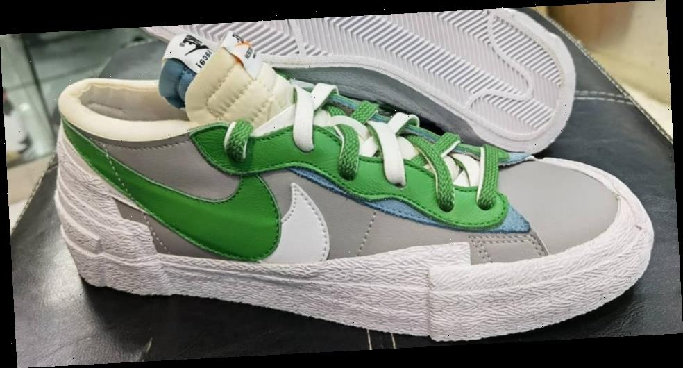"""Doubled-Up Details Abound on the sacai x Nike Blazer Low """"Classic Green"""""""