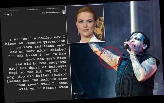 Evan Rachel Wood claims Marilyn Manson drew swastikas by her bed
