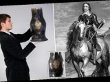 Leather jug made from Cromwell's war horse is expected to fetch £6,000