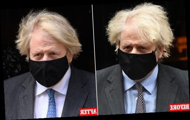 HENRY DEEDES sees Boris Johnson's shorter hair get first public airing