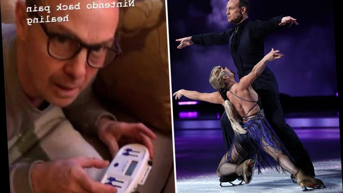 Dancing On Ice's Jason Donovan vows to return to the show as he gets physio on back injury